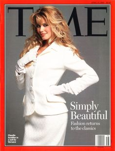 TIME Magazine April 17, 1995 - part 1  claudia schiffer - simply beautiful fashion returns to the classics - gianni versace
