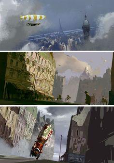Mais artes do filme Um Monstro em Paris | THECAB - The Concept Art Blog