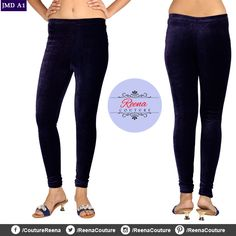 Stretchable VELVET churidar leggings available in different colours and all sizes. A perfect compliment to your dresses! PLACE YOUR ORDER! Call OR WhatsApp *We provide excellent customized stitching and designing for women! Churidar, Compliments, Stitching, Capri Pants, Black Jeans, Pajama Pants, Velvet, Skinny Jeans, Sweatpants