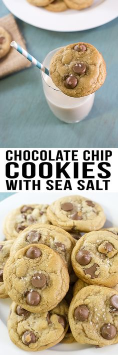 Topping your chocolate chip cookies with sea salt brings out the sweetness of the chocolate chips for the perfect sweet and barely salty cookie.