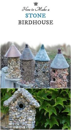 You'll love these 16 creative budget-friendly DIY outdoor decor projects for your home and garden. These diy garden decor will take your garden to entirely next level Homemade Bird Houses, Bird Houses Diy, Birdhouse Designs, Bird House Kits, Garden Animals, Backyard Playground, Whimsical Fashion, Diy Garden Decor, Homemade Garden Decorations