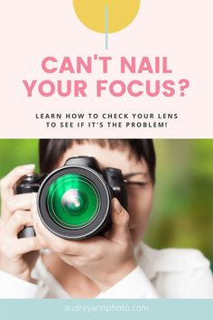 Can't nail your focus? Here's how to check and fix lens focusing issues for sharper images. #beginnerphotographytips #beginnerphotography Photography Challenge, Photography Basics, Photography Tips For Beginners, Photography Tutorials, Children Photography, Family Photography, Sharp Photo, Lightroom Tutorial