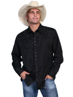 Gunfighter Western Shirt - Jet