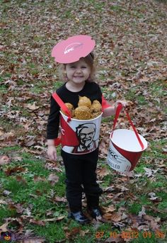 Bucket of KFC Chicken- DIY Halloween Costume
