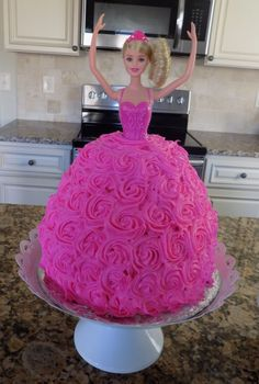 Awesome Picture of Barbie Birthday Cakes . Barbie Birthday Cakes Homemade Barbie Birthday Cake Dairy Egg Free Blessed Little Barbie Theme Party, Barbie Birthday Cake, Barbie Cake, Birthday Cake Girls, Pink Barbie, Princess Birthday Cakes, Princess Doll Cakes, Easy Princess Cake, Barbie Party Decorations