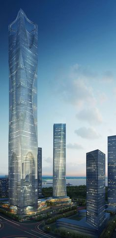 Nanjing Tower Complex 600m, by Jason Holtzman Design :: competition entry