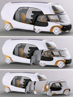 Christian Susana氏がデザインしたモジュール型のキャンピングカー