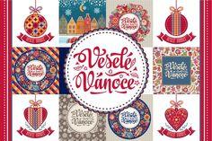 16 Czech Christmas Greeting Cards (Graphic) by zoyali · Creative Fabrica Christmas Greeting Cards, Christmas Greetings, Merry Christmas, Baby Shower Invitations, Custom Invitations, Art Web, Illustrations, Christmas Balls, Logo Design
