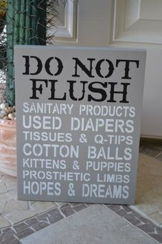 We love a sign that starts out as practical, but sneaks up on you with a punch of humor at the bottom (make sure you read the whole thing!). $19.95, etsy.com    - CountryLiving.com