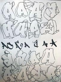 Graffiti Lessons Graffiti Lettering Alphabet, Graffiti Writing, Graffiti Font, Graffiti Tagging, Street Graffiti, Graffiti Styles, Hand Lettering, Street Art, Lettering Styles
