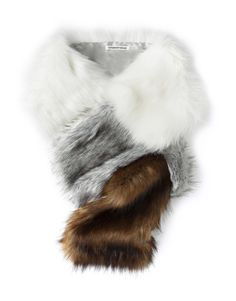 Block Faux Fur Scarf - i like cats but am allergic. I could pretend this is my kitty and stroke it all day long. this is GORGEOUS! Love You Mom, Fashion Story, David Jones, Personal Stylist, Mother Day Gifts, Womens Scarves, Girly Things, Scarf Wrap, Women's Accessories