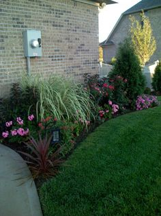 Midwest residential landscaping example - Columbus, IN - I like the layers and interesting colors