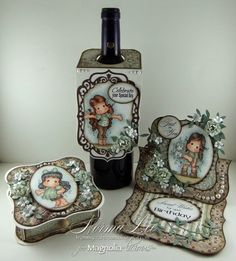 """A Birthday Gift Set, featuring 'Stop In The Name of Love Tilda', """"Tiptoe Tilda'…"""