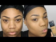 Maybelline Fit Me Matte Poreless Foundation Review & Demo | Charlion Patrice - YouTube