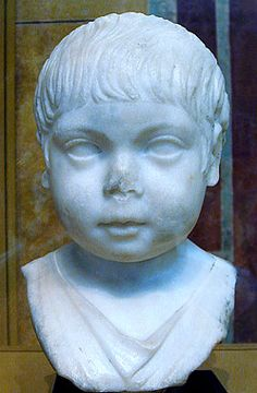Children and Childhood in Roman ItalyBust of a young boy (Roman, c. Roman Sculpture, Stone Sculpture, Greek History, Ancient History, Roman Art, Minoan, Ancient Rome, Roman Empire, Portrait