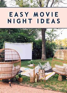 Prepping for Movies: Easy Indoor & Outdoor Movie Night Ideas - - Sugar & Cloth – sharing easy movie night ideas you can recreate in your backyard for a cozy setup - Easy Movies, Good Movies, Motivational Quotes For Depression, Outdoor Movie Nights, Indoor Movie Night, Indoor Outdoor, Outdoor Decor, Yard Care, Rustic Design