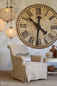 HUGE clock! Really want to find this to hang over mantel!  Looks like an original French version!