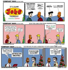 It's a SPECIAL #DumbJokeThursday! 12/25/14 http://CompanyManComic.com RT! #COMICSTRIP #HUMOR #MerryChristmasYaFilthyAnimal #DirectorsCut