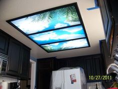 Decorative Fluorescent Light Panels Kitchen