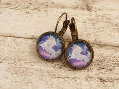 Ohrringe mit Einhorn Motiv schlichter Ohrschmuck von Schmucktruhe