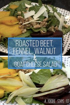 Beets have got to be the easiest thing to cook! No reason to leave them out of your salad, especially in this roasted beet, fennel, walnut and goat cheese salad.