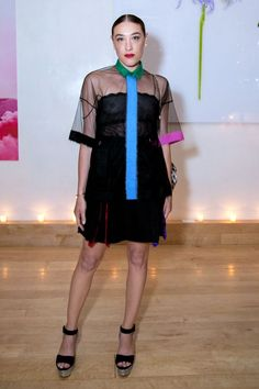 7 Events, 18 Weekend Outfit Ideas #refinery29  http://www.refinery29.com/new-york-city-party-style#slide-7  Mia Moretti's boxy, sheer ensemble is a must-copy.