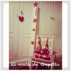 Medidor estrellas rojas #elnietodegepetto
