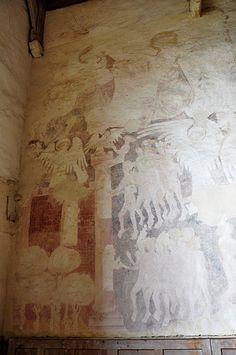 St. Nicholas Church, Oddington  Medieval wall painting - Doom