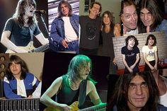 Малкольм Янг Фотогалерея: гитарист АС/DC через лет