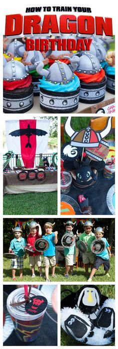 A How to Train Your Dragon Birthday Party complete with viking ship, party games and great dragon fun!