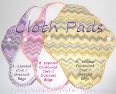 This is the first tutorial in a series of three. I'll be showing you how to sew cloth pads with overcast edges three ways: exposed core, exposed contoured core, hidden contoured core. We wi…