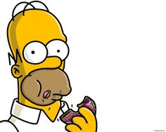 Homer Simpson Wallpaper Wallpapers) – Wallpapers and Backgrounds Homer Simpson, Simpson Tv, The Simpsons, Simpsons Characters, Fictional Characters, Food Themes, My Love, Donuts Donuts, Steaming Cup