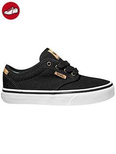 Vans  Y ATWOOD DELUXE,  Unisex-Kinder Sneaker , Schwarz - Schwarz - (10oz canvas) black/blank/noir - Größe: 5 (*Partner-Link)