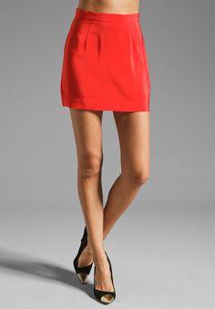 Amanda Uprichard Mini Skirt in Red