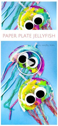 Master Bedroom Decorating Concepts - DIY Crown Molding Set Up Arty Crafty Kids Craft Paper Plate Jellyfish Craft Easy Jellyfish Craft For Kids - Perfect For An Under The Sea Theme At School Or Preschool Diy Crafts For Kids Easy, Paper Plate Crafts For Kids, Arts And Crafts For Teens, Easy Arts And Crafts, Summer Crafts For Kids, Paper Crafts For Kids, Arts And Crafts Projects, Diy For Girls, Preschool Crafts