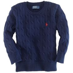 Ralph Lauren Childrenswear Boys' Classic Cableknit Sweater ($27) ❤ liked on Polyvore featuring baby, baby clothes, kids, baby boy clothes and baby boy