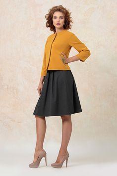 Горчичный цвет снова в тренде! Skater Skirt, Skirts, How To Wear, Fashion, Moda, Fashion Styles, Skater Skirts, Skirt