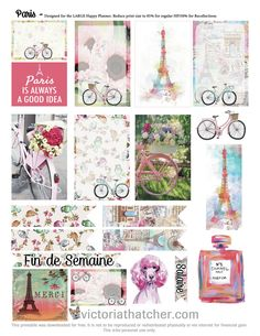 FREE Paris Planner Printable by Victoria Thatcher