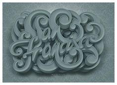 San Francisco lettering by Marcelo Schultz