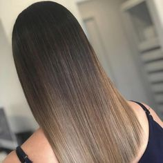 Dark Brown into Turquoise Ombre Hair - 40 Fairy-Like Blue Ombre Hairstyles - The Trending Hairstyle Brown Hair With Blonde Highlights, Brown Hair Balayage, Hair Color Balayage, Hair Highlights, Ombre Hair, Turquoise Hair Ombre, Dye My Hair, Brunette Hair, Hair Looks