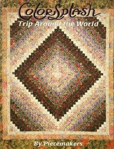 Color Splash Trip Around The World Quilt Book Pattern By Piecemakers   QuiltTops - Books & Magazines on ArtFire