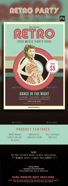 Retro Flyer | Print Templates, Flyer Template And Flyer Printing