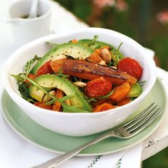 Roasted sweet potato and almond salad - Woman And Home
