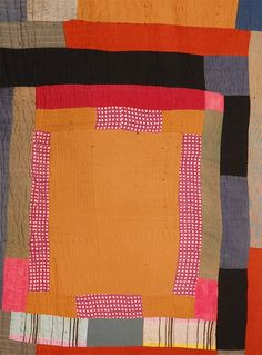 African American Abstract Quilt, Attributed to Gees Bend, AL   From a unique collection of antique and modern quilts at https://www.1stdibs.com/furniture/folk-art/quilts/