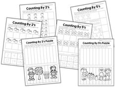 Skip counting is such an important skill to teach your little ones. It helps with number sense, patterns, telling time, estimation, and mul. 1st Grade Math, Kindergarten Math, Teaching Math, Grade 1, Teaching Ideas, Kids Math, Preschool Learning, Teaching Tools, Third Grade