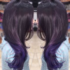 Purple Balayage with Pravana hair color! Love!