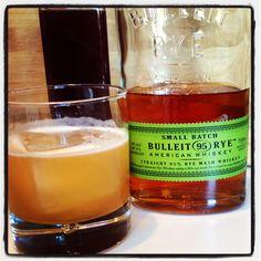 Raspberry Sour: Bulleit Rye, lemon, simple, raspberry gum syrup #cocktails #smallhandfoods