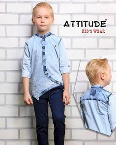 Stunning designer cut shirt made of denim and love!  Designer Wear by #AttitudeKidsWear   #DressUp #ShowUp #StealTheShow  #BoysClothing #Indian #ComfortWear #DesignerWear #Casuals #Cottons #MakeInIndia #Garments #2018 #Mumbai #FashionWear #Shorts #Jackets #Coats #Blazers #Classy #ImportedFabrics #Stylish #Designer #Denims Boys Party Wear, Kids Wear Boys, Cut Shirts, Boys T Shirts, Boys Designer Shirts, Kids Fashion Wear, Kids Kurta, Kids Outfits, Sherwani
