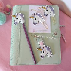 travel Girly but Tough planner felt paper clip Embroidery bookmark filofax