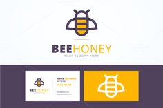 Bee logo and business card by zaniman on @creativework247